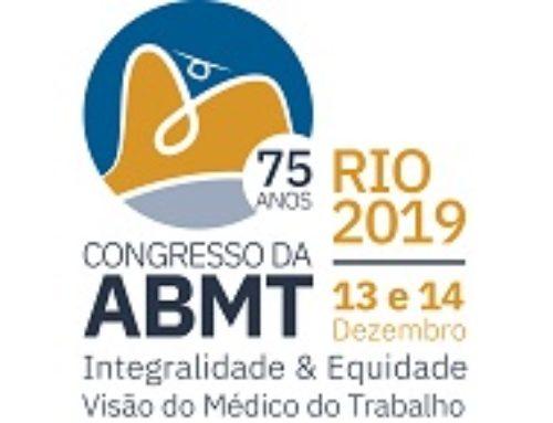 Congresso da ABMT l 75 Anos: gestão da saúde dos trabalhadores